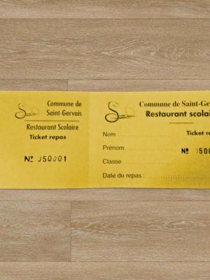Tickets de cantine à l'unité